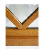 Halbrundfenster Kipp Dekorfarbe mit Aufgesetzten Sprossen