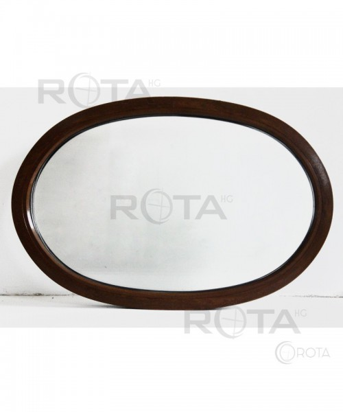Oval Fest Fenster 1300x870 2-seitig Farbe Nussabum
