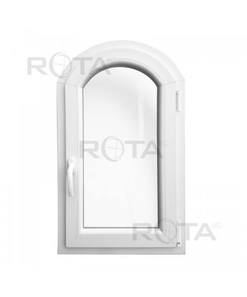 Bogen Fenster Kipp 500x900mm Weiss