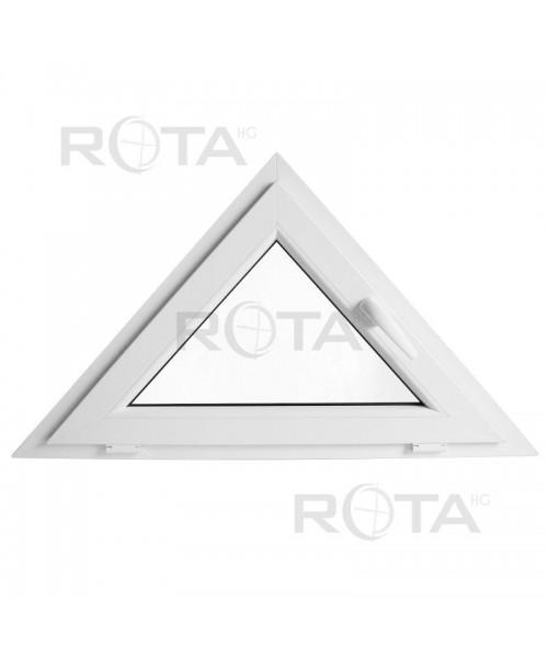 Dreiecksfenster Kipp 1200x600 Weiss Kunstoff