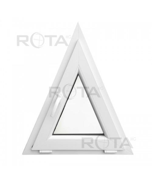 Dreiecksfenster Kipp 700x850 Weiss Kunstoff