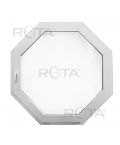Schrägfenster Kipp 1100x1100 Weiss Achteckig Fenster