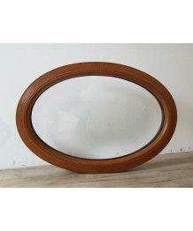 Oval Fenster Fest 900x625 Golden Oak 2-Seitig VEKA