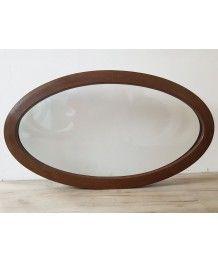 Oval Fenster Fest 1160x660 Nussbaum 2-Seitig VEKA