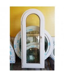 Bogen Dreh Fenster 560x1420 Kunststoff Weiss