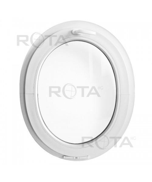 Ovalfenster Kipp Weiss Kunststoff (senkrecht)