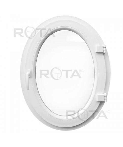Ovalfenster Dreh Weiss Kunststoff