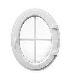 Oval Fenster Dreh Weiss mit Innenliegenden Sprossen