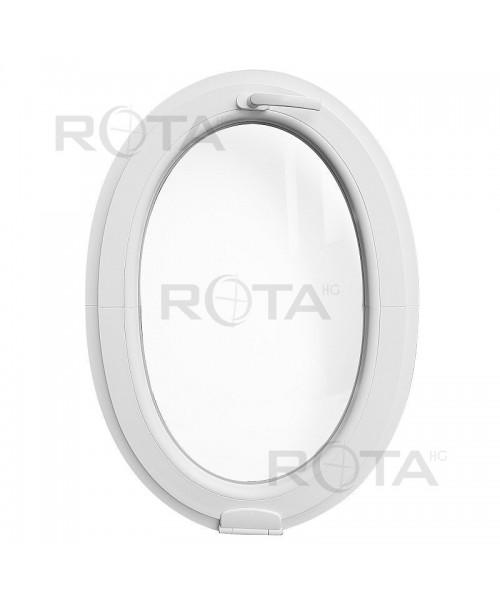 Oval Fenster Kipp Weiss mit Estetic3D Scharnier