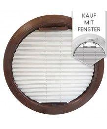 Plissee Rollo Sichtschutz für Rundesfenster - zusammen mit Fenster bestellen