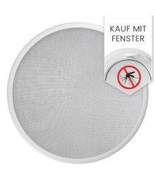 Insektenschutz Fliegengitter für Rundfenster zusammen mit Fenster bestellen
