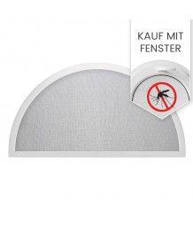 Insektenschutz Fliegengitter für Halbrundfenster zusammen mit Fenster bestellen
