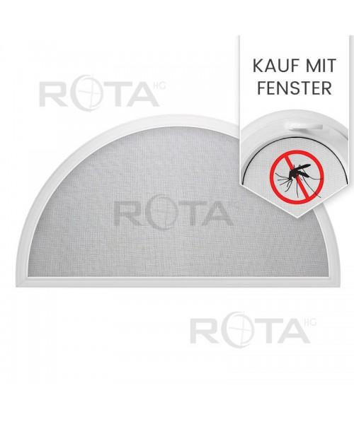 Insektenschutz als Spannrahmen Fliegengitter für Halbrunde Fenster