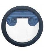 Plissee Rollo Sichtschutz für Rundesfenster