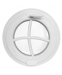 Rundfenster Kipp Weiss Kunststoff mit Bogen Aufgesetzte Sprossen