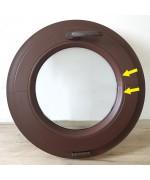 Rundfenster Kipp 600mm Farbe RAL 8017