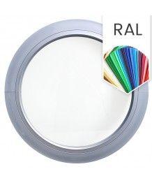 Rundfenster Fest RAL Farben lackiert Kunststoff