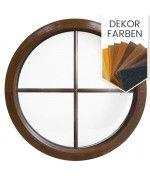 Rundfenster Fest Dekorfarbe mit Innenliegenden Sprossen