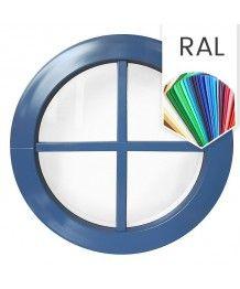Rundfenster Fest RAL Farben Kunststoff mit Aufgesetzten Sprossen