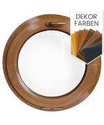 Rundfenster Kipp Dekorfarbe Holzstruktur