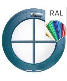 Rundfenster Kipp RAL Farben Kunststoff mit Innenliegenden Sprossen