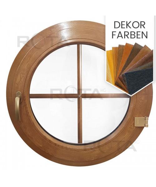 Rundfenster Dreh Dekorfarbe mit Innenliegenden Sprossen VEKA Kunstsoff