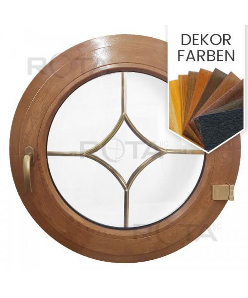 Rundfenster Dreh Dekorfarbe mit Innenliegenden Sprossen Stern Motiv