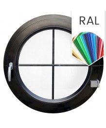 Rundfenster Dreh RAL Farben Kunststoff mit Innenliegenden Sprossen