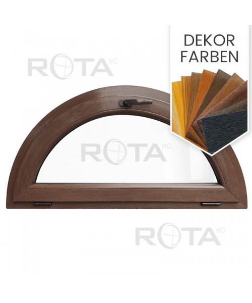 Halbrundfenster Kipp Dekorfarbe Halbkreis Kunststoff