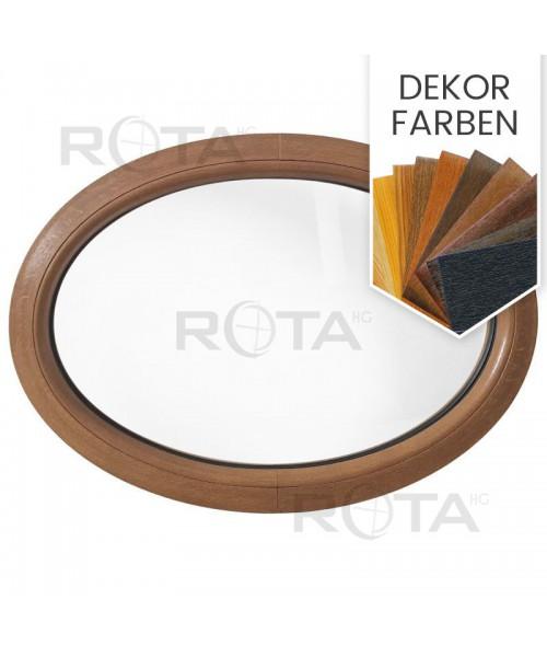Oval Fenster Fest Dekorfarbe Kunststoff waagerecht