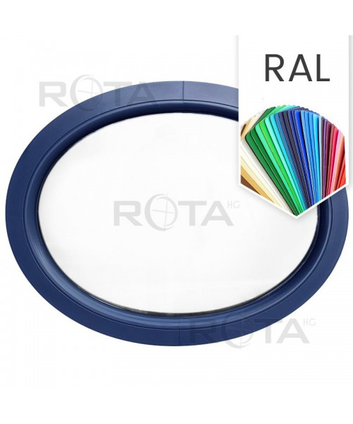 Ovalfenster Fest RAL Farben Kunststoff waagerecht