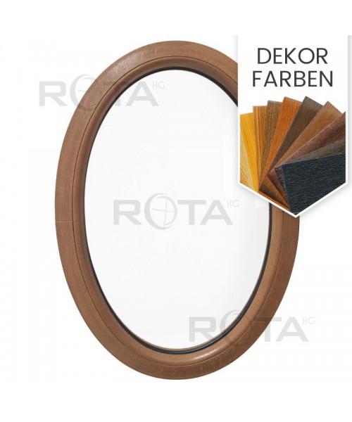 Oval Fenster Kipp Dekorfarbe Kunststoff