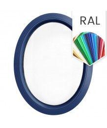 Ovalfenster Fest RAL Farben lackiert Kunststoff (senkrecht)