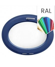 Ovalfenster Kipp RAL Farben lackiert Kunststoff