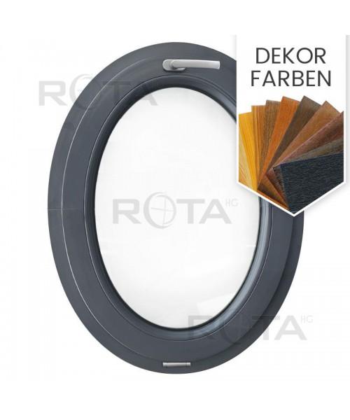 Ovalfenster Kipp Dekorfarbe Kunststoff