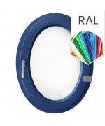 Ovalfenster Dreh RAL-Farben Kunststoff