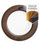 Rundfenster Kipp mit Estetic3D Scharnier Dekorfarbe Holzstruktur