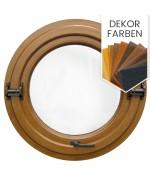 Schwingfenster Rund Dekorfarbe Holzstruktur