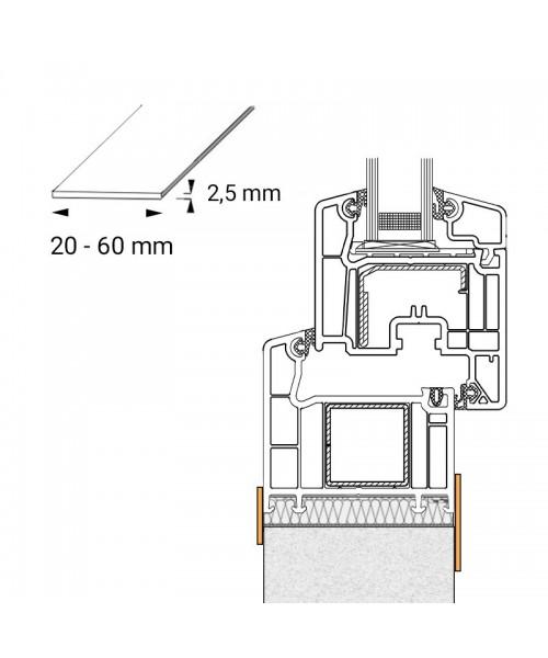 Flachleiste aus Kunststoff für runde Fenster