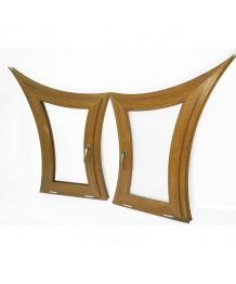 Sonder Bogenfenster Kipp 650x1200 mm Golden Oak Kunststoff