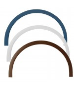 Profilé plat PVC blanc pour une fenêtre ronde ou demi-lune