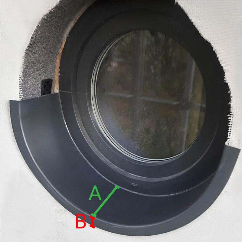 Appui de fenêtre ronde en PCV